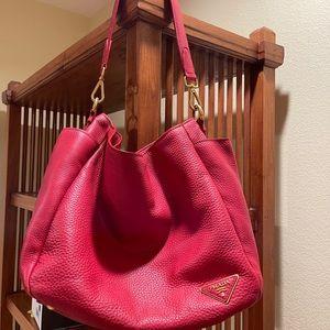 Prada Authentic large Red Leather Vitello Daino bag